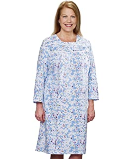 a151ca24ec Amazon.com  Silvert s Womens Flannel Hospital Gowns - Open Back for ...