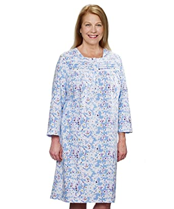 Amazon.com  Silvert s Womens Flannel Adaptive Hospital Gowns Open Back  Nightgowns  Clothing a3baba47a