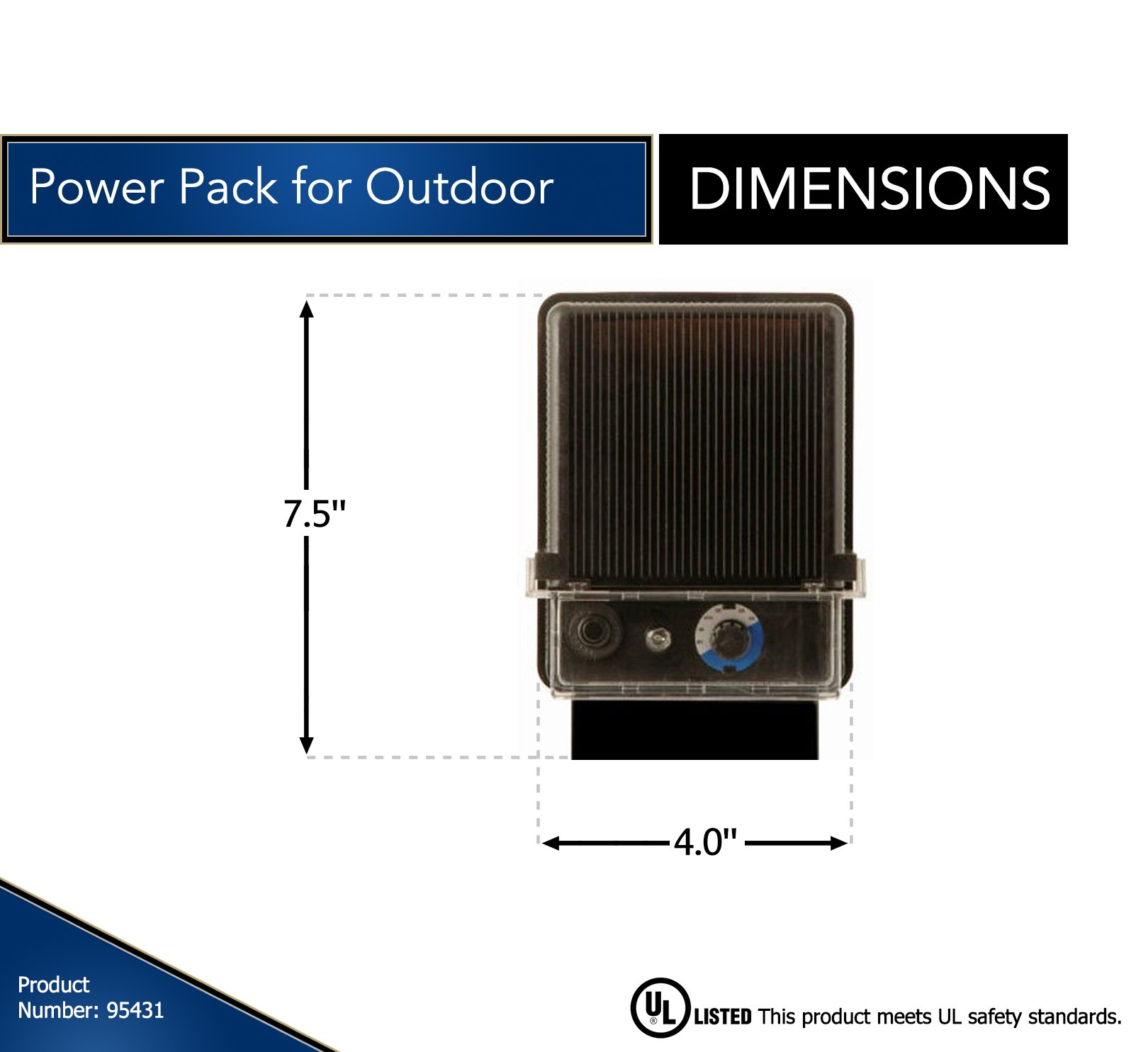 Moonrays Electric Power Pack For Outdoor Low Voltage