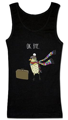 OK. Bye Bird Traveler Artwork Camiseta sin mangas para mujer