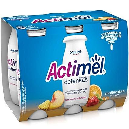 Actimel Danone Multifrutas Yogur Líquido - Pack de 6 x 100 g - Total: 600