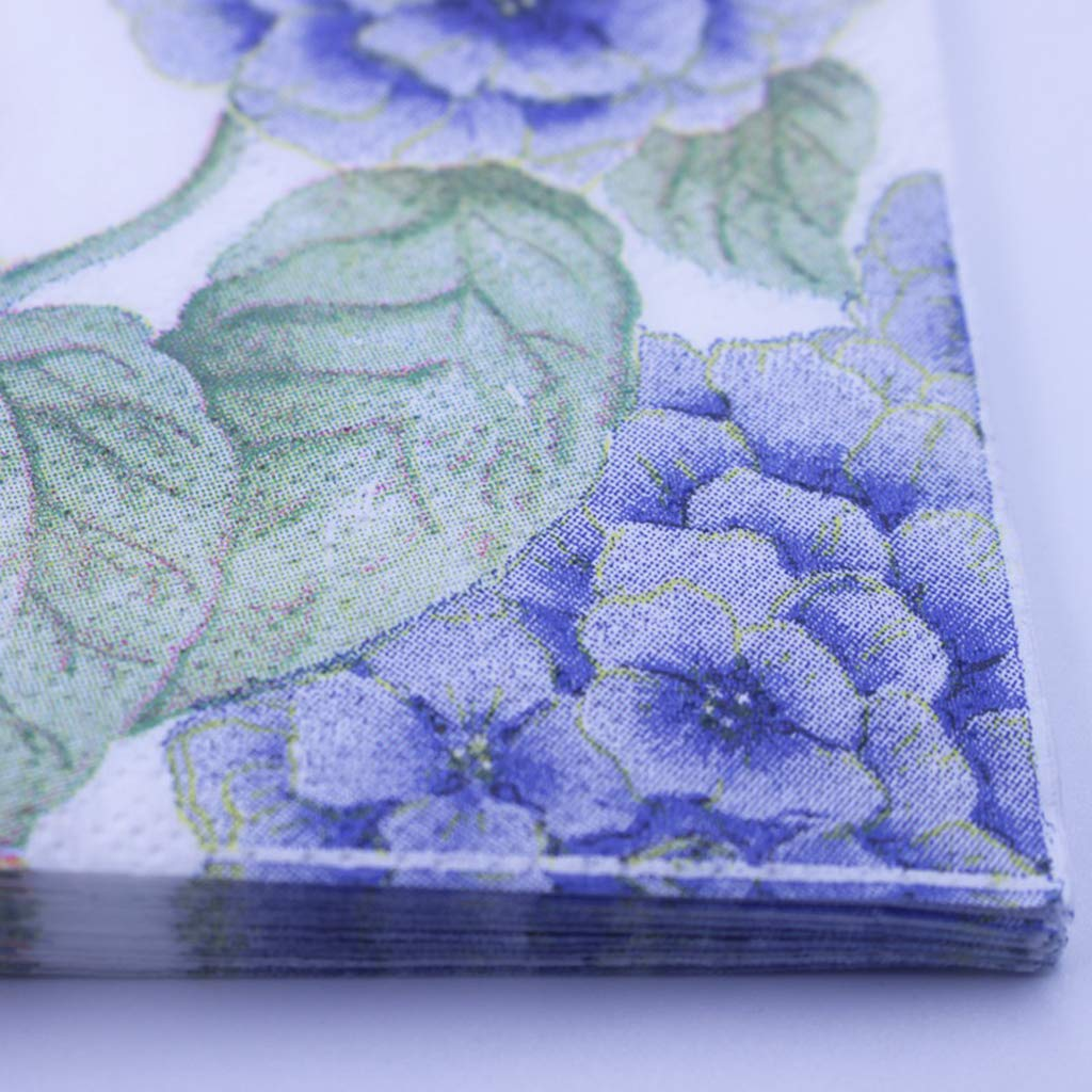 Misright Decorative Dinner Napkins 20 Sheets//Bag Creative Flower Purple Hydrangea Butterfly Paper Napkins Party Tableware Decoration Supply