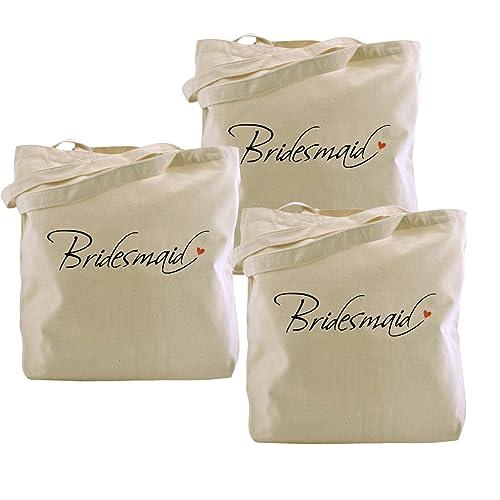 ElegantPark Bridesmaid Tote Bag For Wedding Gifts 100 Cotton