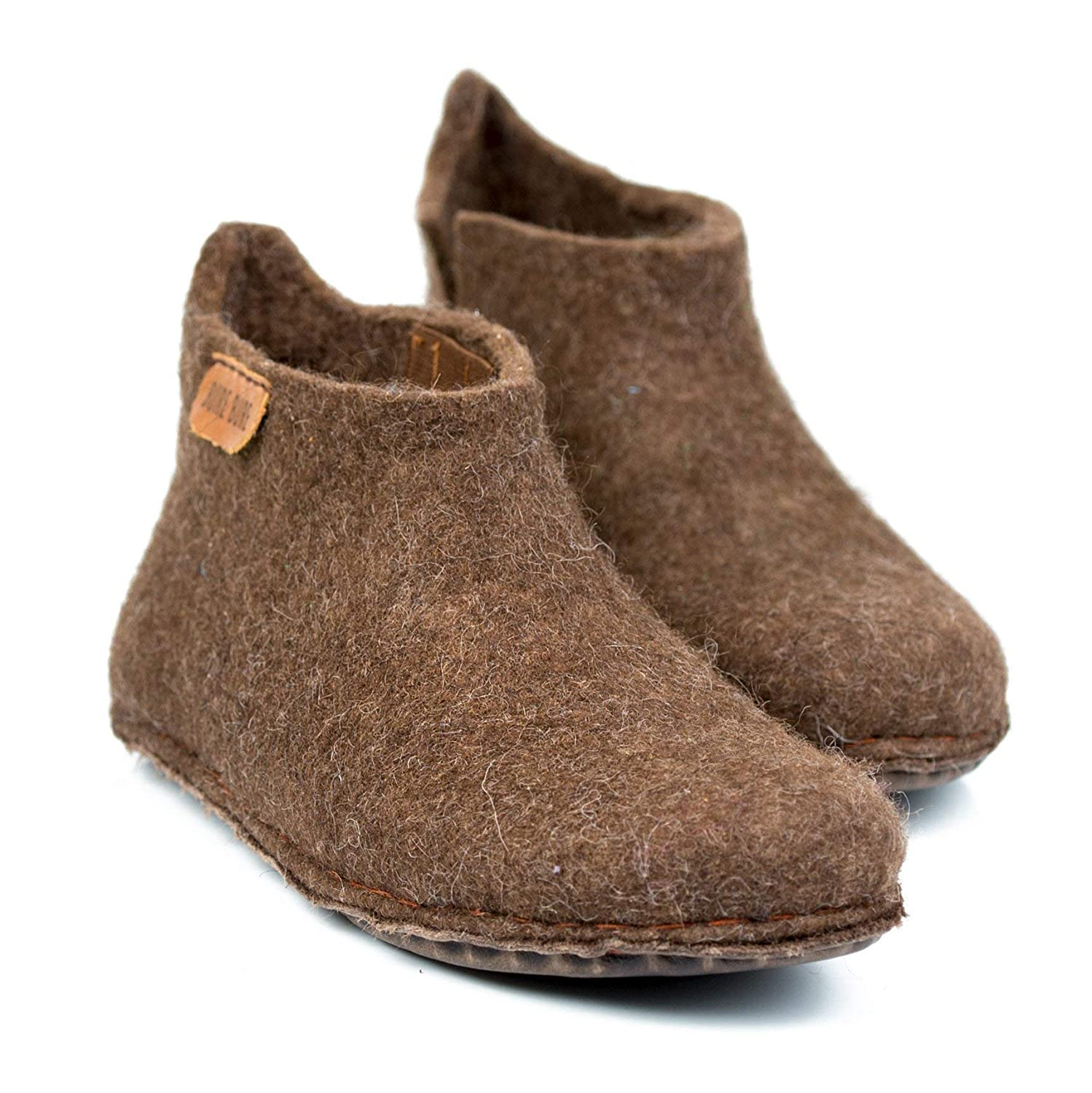 BureBure Classic Felted Wool Ankle Boots Slippers for Men Handmade in Europe