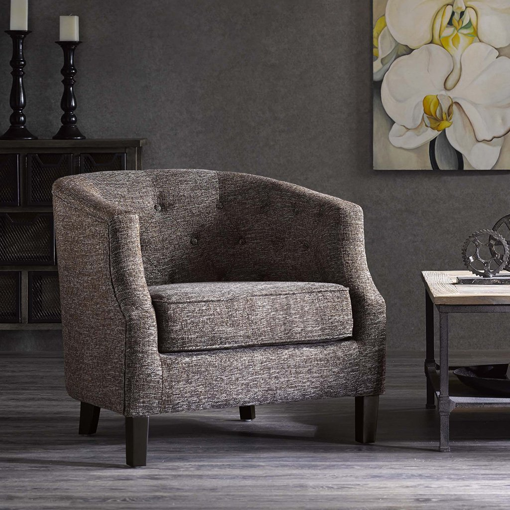 Chesterfield Barrel Chair Ansley/Chocolate