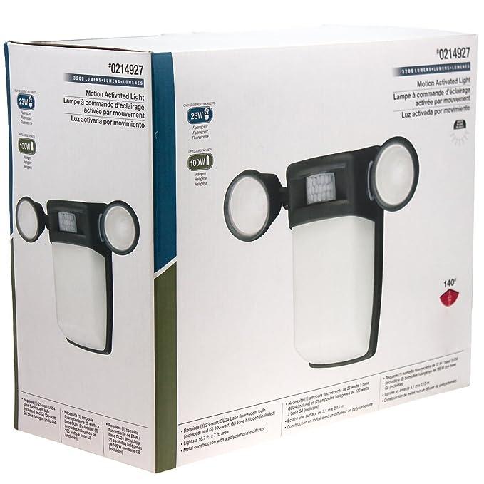 Utilitech 3-Light 123-Watt Bronze Dusk-to-Dawn Security Light - Flood Lighting - Amazon.com