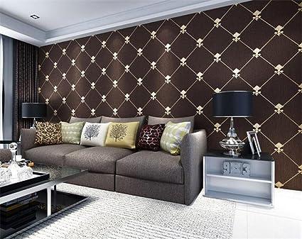 Non Woven Wallpaper 3d Modern Minimalist Tv Background Wall