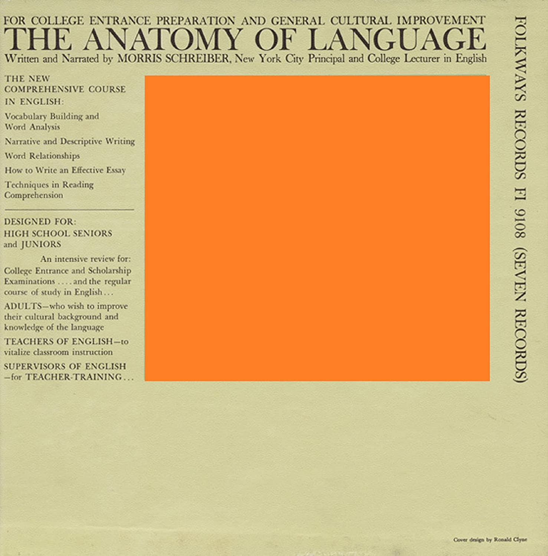 Ronald Clyne Morris Schreiber The Anatomy Of Language 7xlp Box