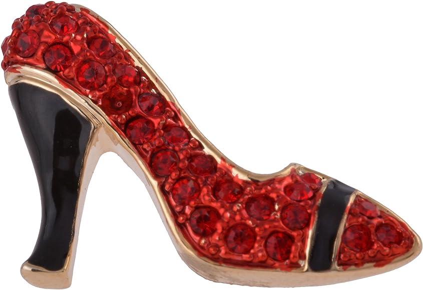 Lisa Hsieh Red Swarovski High Heel Lapel Pin
