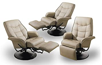 Set of three Beige RV Faux Leather Swivel Recliners  sc 1 st  Amazon.com & Amazon.com: Set of three Beige RV Faux Leather Swivel Recliners ... islam-shia.org