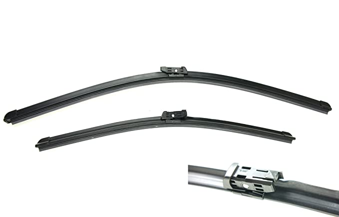 "RKX Front Windshield Wiper Blades Set of 2 24""+19"" for VW Jetta and Passat MK6, B7"