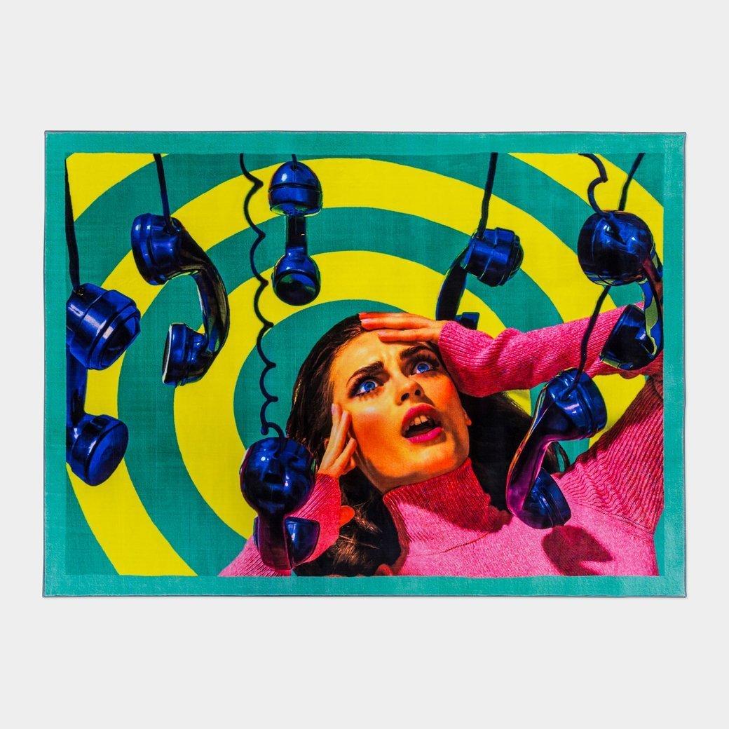 Seletti Wears Toiletpaper Rug:スクエア Phone   B06XP5HYF2