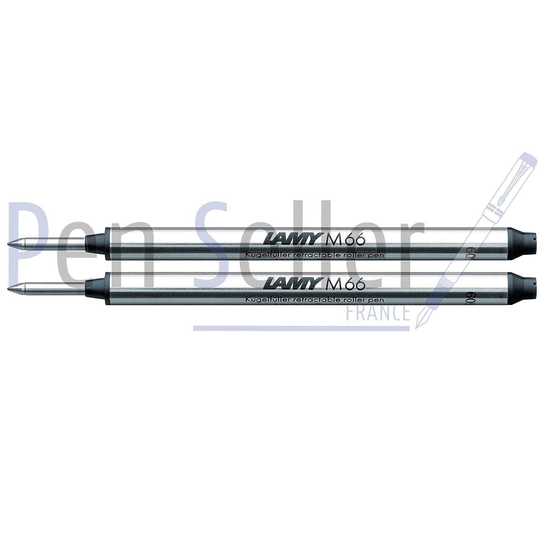 Lamy: Rollerball-Großraummine M66: Farbe: schwarz, Strichbreite: M, 2er-Set.