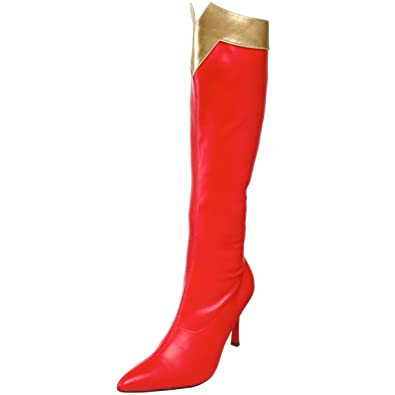 Funtasma Damen Wonder-130 Kurzschaft Stiefel, Rouge (Red-Gold STR PU), 42 EU