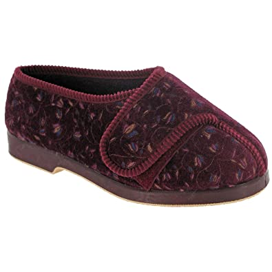 Nola Extra Wide Fit Ladies Slipper / Womens Slippers