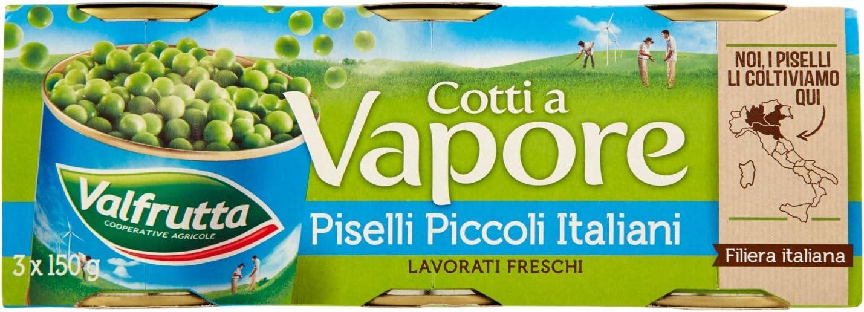Valfrutta Piselli, Piccoli, Cotti a Vapore - 3 Pezzi x 150 gr