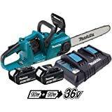 Makita DUC353PT2 Twin 18v / 36v LXT Cordless 35cm Chainsaw DUC353 2 x 5.0ah
