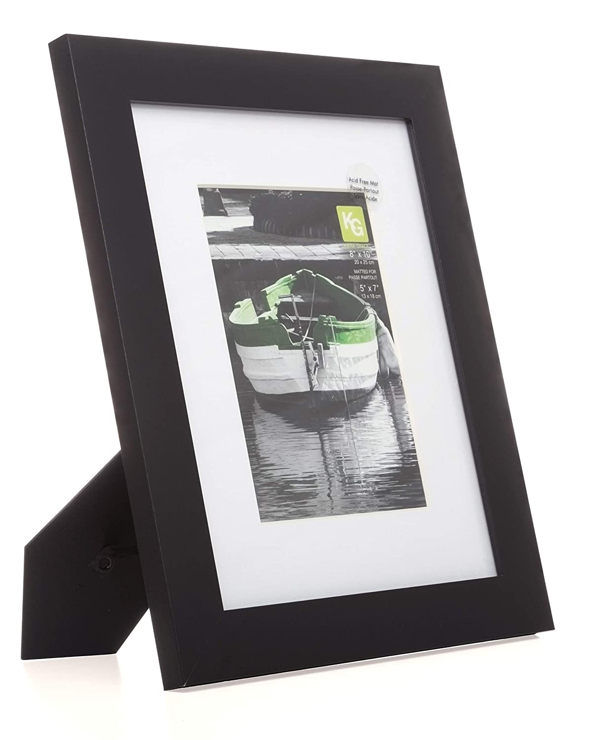 Matted for 5-Inch by 7-Inch Photo 8-Inch by 10-Inch Black Kiera Grace Langford Wood Frame