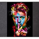 1 Piece Framed David Bowie Canvas Prints - 1 Piece Canvas American Actor Artwork Painting on Wall Art for Office and Home Wall Decor (60x80cm (24x32inch))
