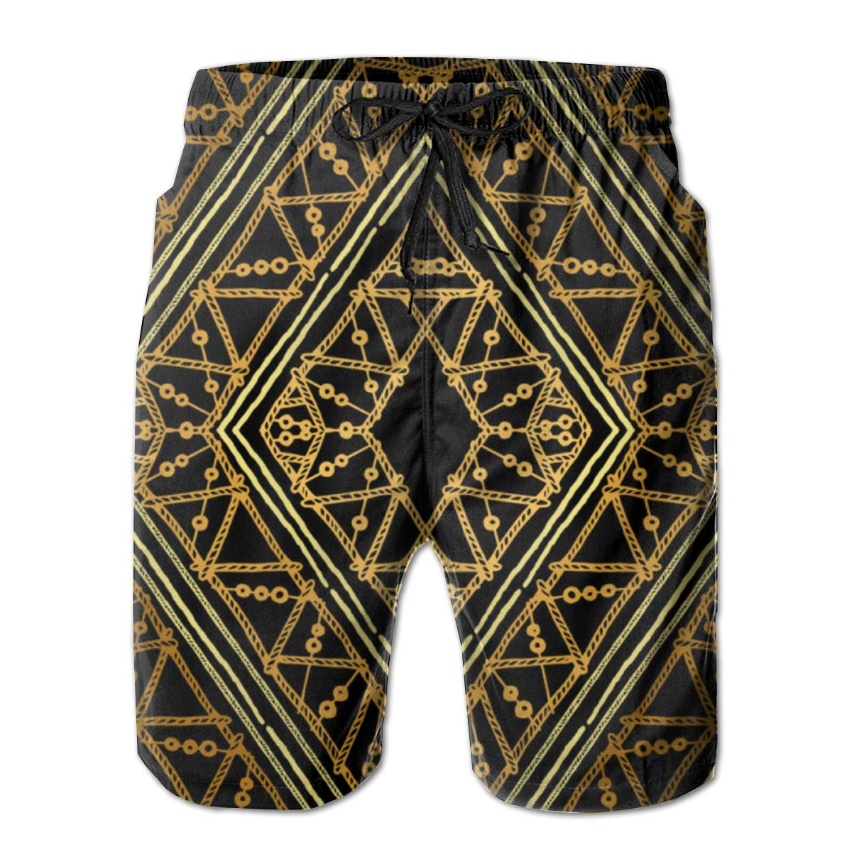 BE6h Mens Summer Surf Beach Trunks Quick Dry Pants with Pockets for Male