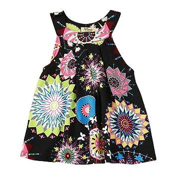 d26bc75de2 Image Unavailable. Image not available for. Color: Infant Baby Kids Girls  Flower Bohemian Princess Dress ...