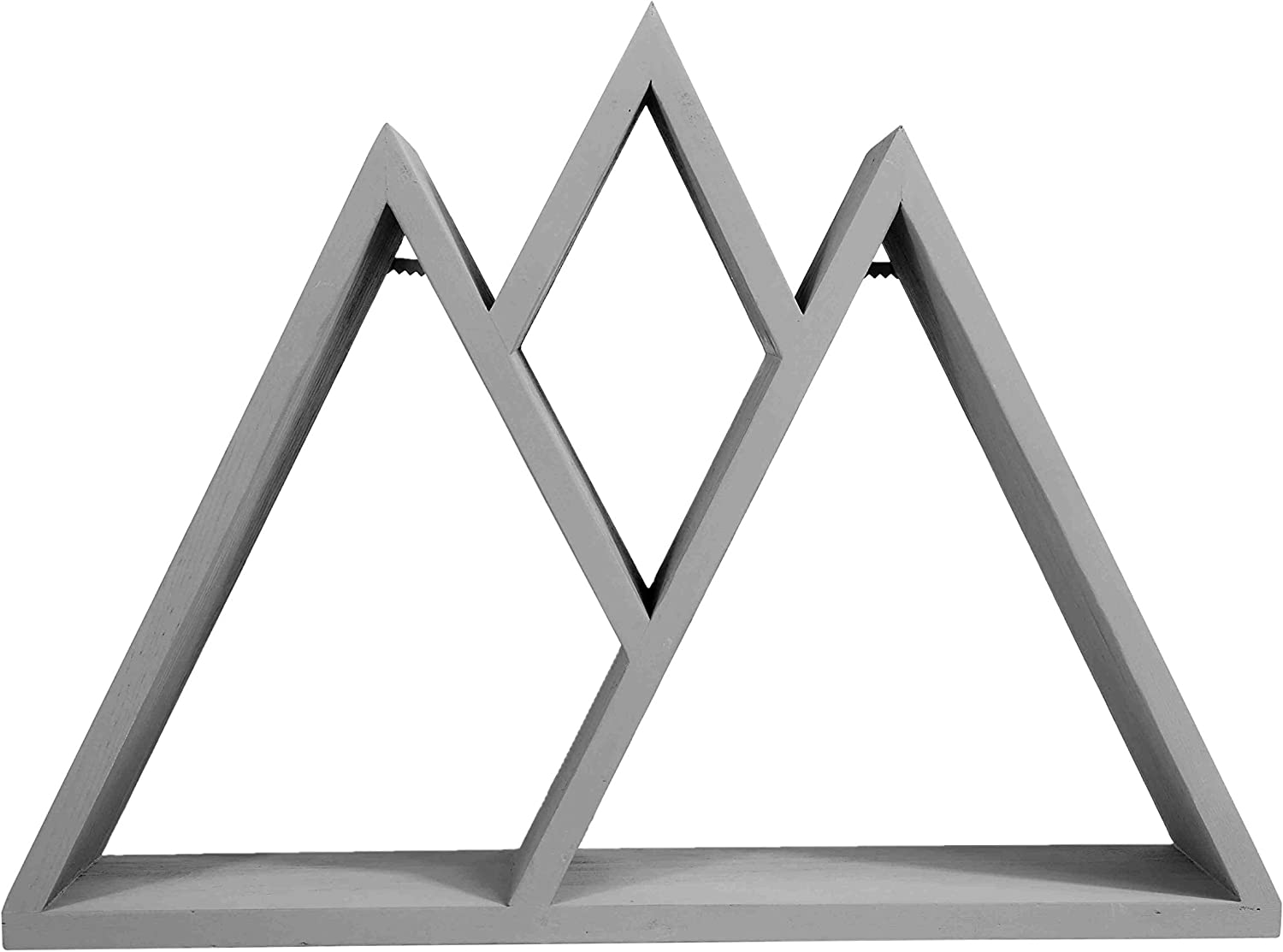 GSM Brands Mountain Shelf - Rustic Geometric Home Decor for Bedroom Living Room and Beyond (16.5 Inches X 12.25 Inches)
