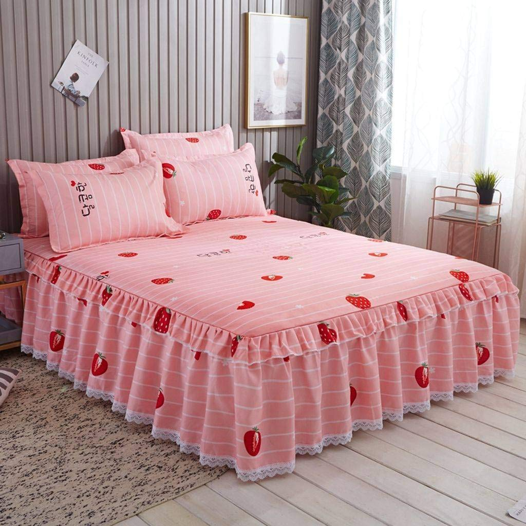 QXJR Bed Skirts,Valance Sheet Box,Bed Skirt Lace lace Bed Skirts Bed Cover Bed Covers Sheets Wrap Around Bed Bedding -I-quilt200230Cm by QXJR
