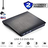 External USB 3.0 External DVD Writer Drive DVD RW, CD RW Drive DVD CD Burner, Writer, Copier, Reader, Rewritable Optical DVD Dual Layer Drive for all Laptop, Desktop, Netbook, Notebook, Apple MAC