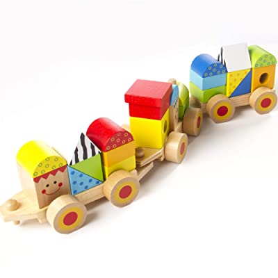 Fat Brain Toys Stacking Train - Learning Locomotive Baby Toys & Gifts for Babies: Toys & Games