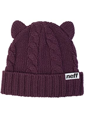 Neff Kat Beanie Wine Cat Ears Women s Girls Hat at Amazon Women s ... 01570c805