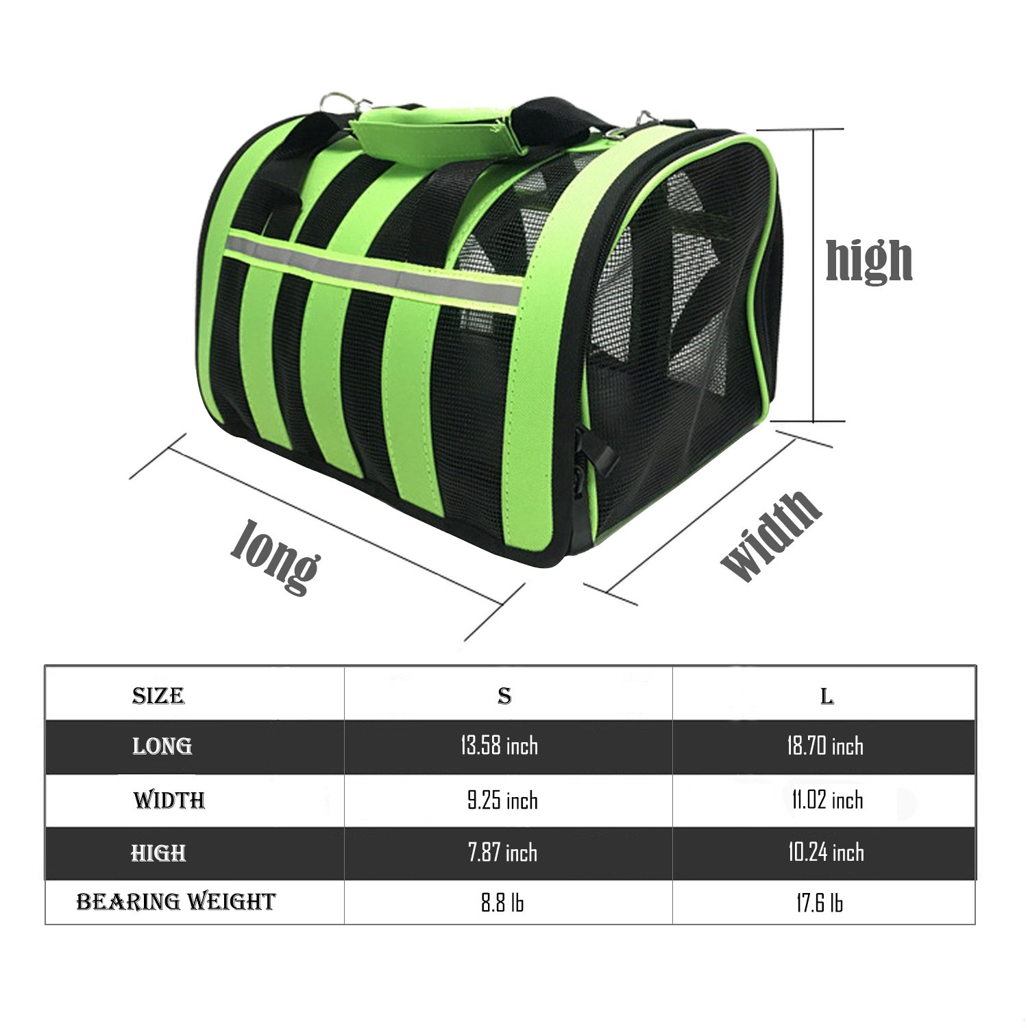Pet Deluxe Portable Pet Carrier-Small Animals Travel Carrier, Soft Sided Tote Bag Purse,Airline Approved, Perfect for Small Dogs,Puppy, Cats (S) by Pet Deluxe (Image #2)