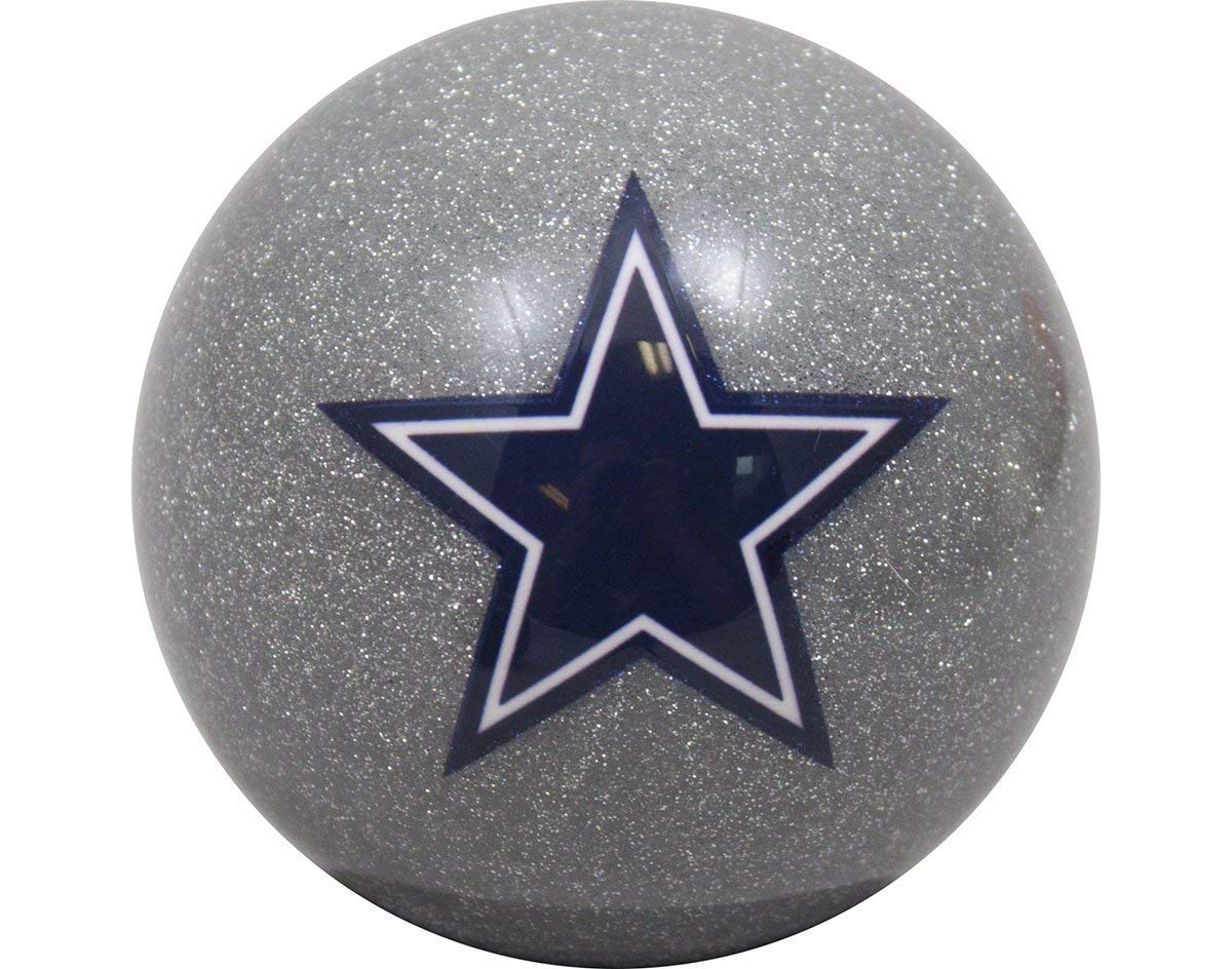 Officially Licensed NFL Dallas Cowboys Silver Billiard Pool Cue Ball
