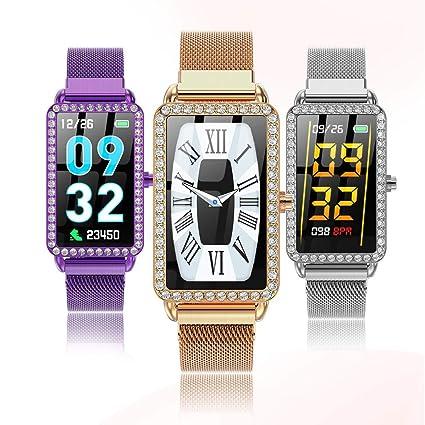 Amazon.com: LLJEkieee Luxury Diamonds Women Smart Watch 1.14 ...