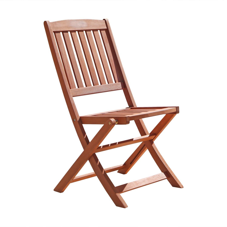 Amazon VIFAH V04 Outdoor Wood Folding Chair Set of 2