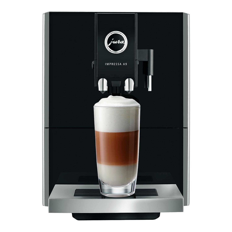 JURA 15018 Impressa A9 PLATINO EU - Macchina automatica per espresso e cappuccino color platino che prepara più di 12 specialità al caffè con la semplice pressione di un tasto
