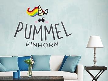 Klebefieber Wandtattoo Pummeleinhorn Logo B x H: 90cm x 66cm: Amazon ...