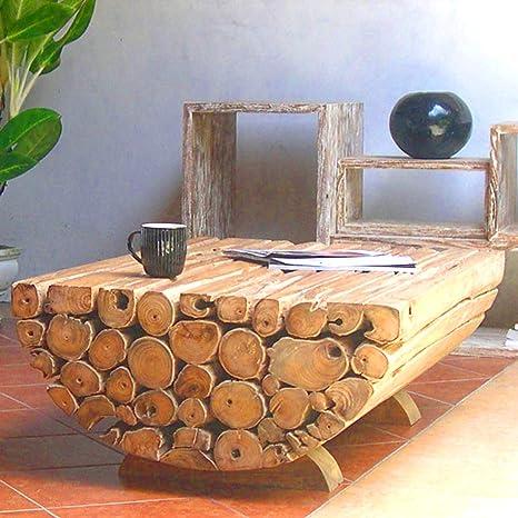 Tavolini Da Salotto In Legno Massiccio.Mobel Bressmer Tavolino Da Salotto In Legno Di Teak Ranting