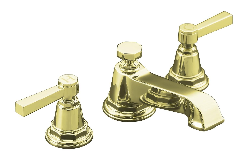 KOHLER K-13132-4A-CP Pinstripe Pure Widespread Lavatory Faucet ...
