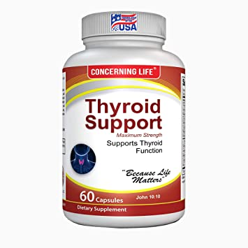 Thyroid Support Supplement with Selenium - Focus Formula with Metabolism &  Energy Help -