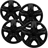 Hub-Caps for Select Chevy Impala and Monte Carlo (Pack of 4) 16 Inch Black Wheel Covers