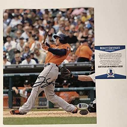 a333b78c0fa Image Unavailable. Image not available for. Color  Autographed Signed  George Springer Houston Astros 8x10 Baseball Photo Beckett BAS COA