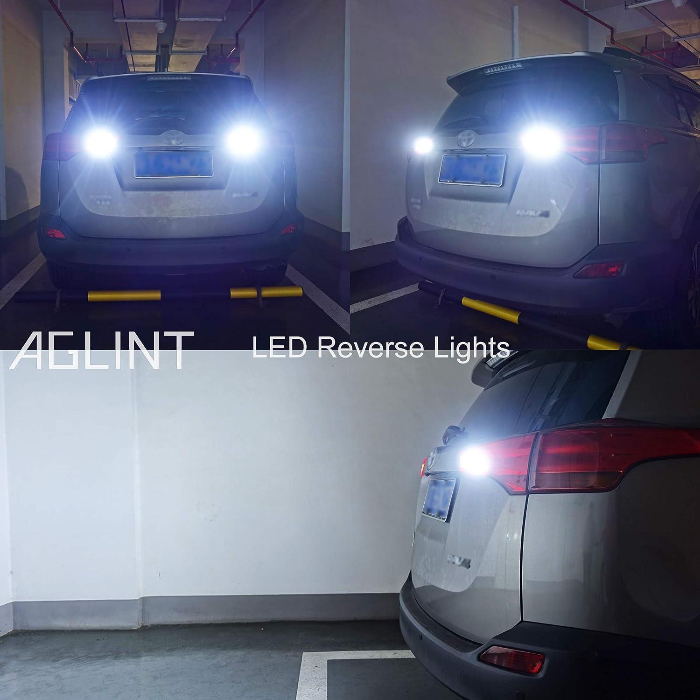 AGLINT 2X W16W T15 LED Bombillas CANBUS Error Gratuito 3030 22SMD Alta Brillante 921 912 Para Coche Luz de Estacionamiento Copia de seguridad Luz de Marcha Atr/ás Bombilla 6500K Xenon Blanco