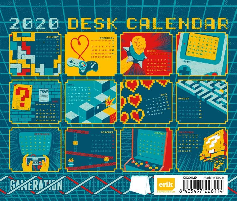 17x20 cm Erik/® Gameration Deluxe Tischkalender 2020