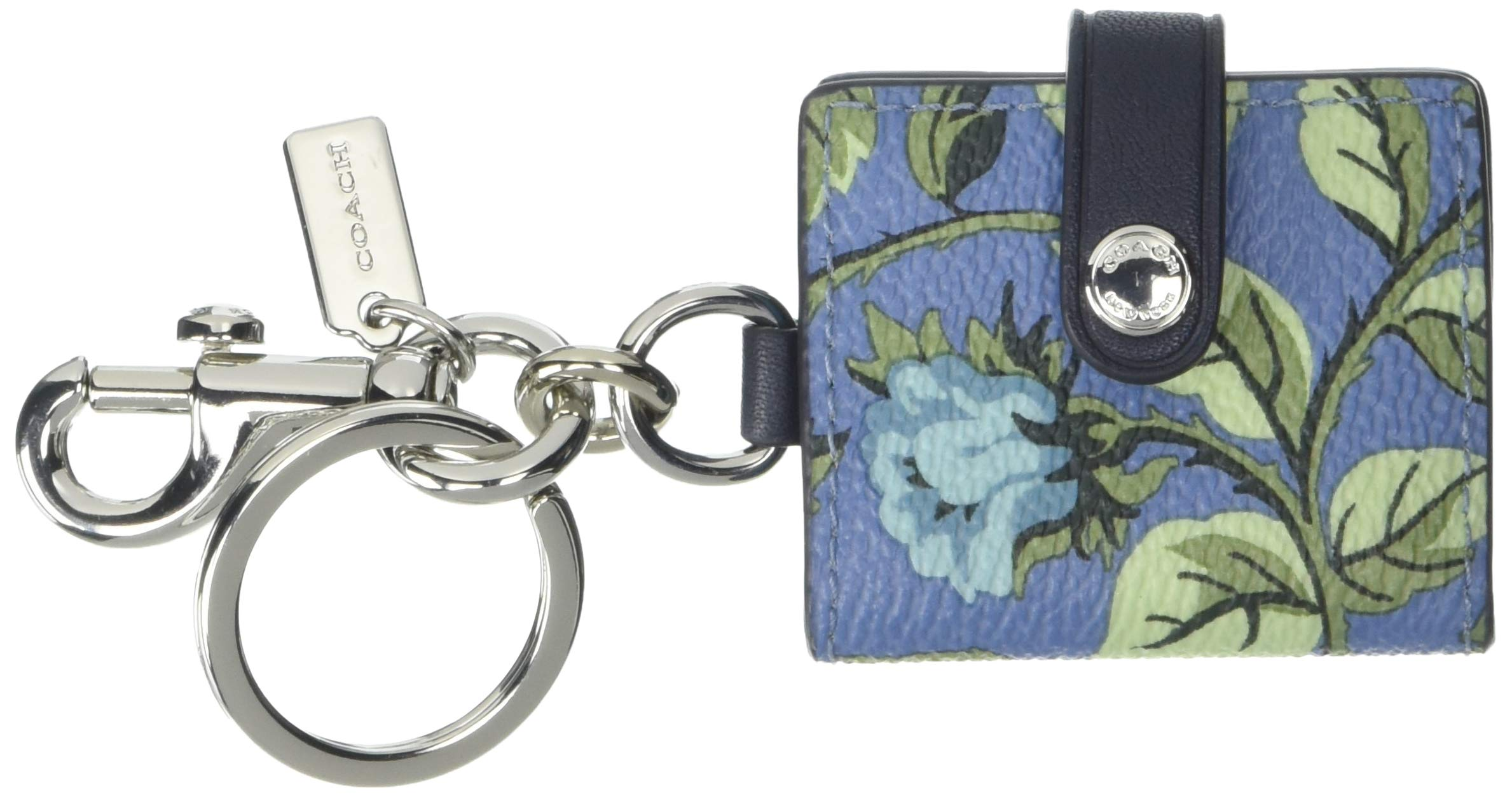 COACH Women's Sleeping Rose Pictureframe Bag Charm Midnight Navy/Silver One Size by Coach