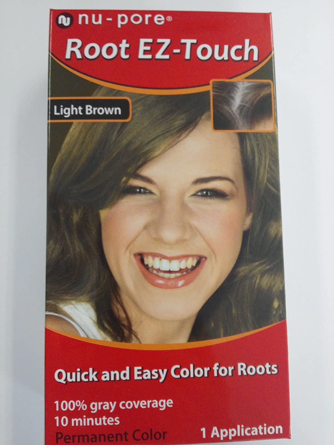 Amazon Nu Pore Root Ez Touch Brush On Light Brown 1