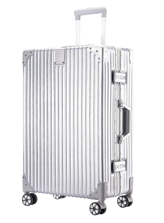 【 nagahiro 】 242422 スーツケース 旅行 出張 軽量 カバン TSA ロック L シルバー B07P9WNDZL