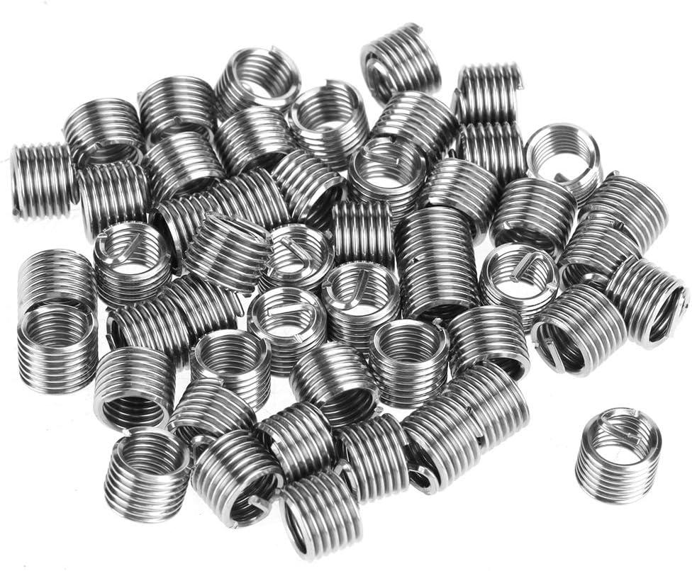 54pcs Thread Repair Kit M6 Stainless Steel Wire Thread Insert Combination Tool Set Wire Thread Insert Kit