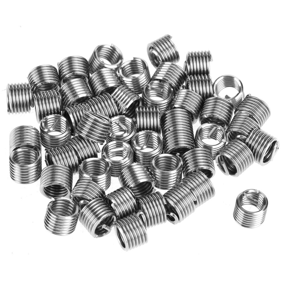 Stainless Steel Wire Thread Insert Kit Wire Thread Insert Combination Repair Kit 50 x M61.01.5D Wire Thread Inserts // 1 Twist Drill Bits // 1 Wrench // 1 Thread Taps // 1 Breaking Pin Tool