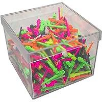 BILLARES Y DARDOS CAMARA Caja de 500 Puntas de Dardos de plástico Resistentes Colores para Diana electrónica, Rosca 2ba…