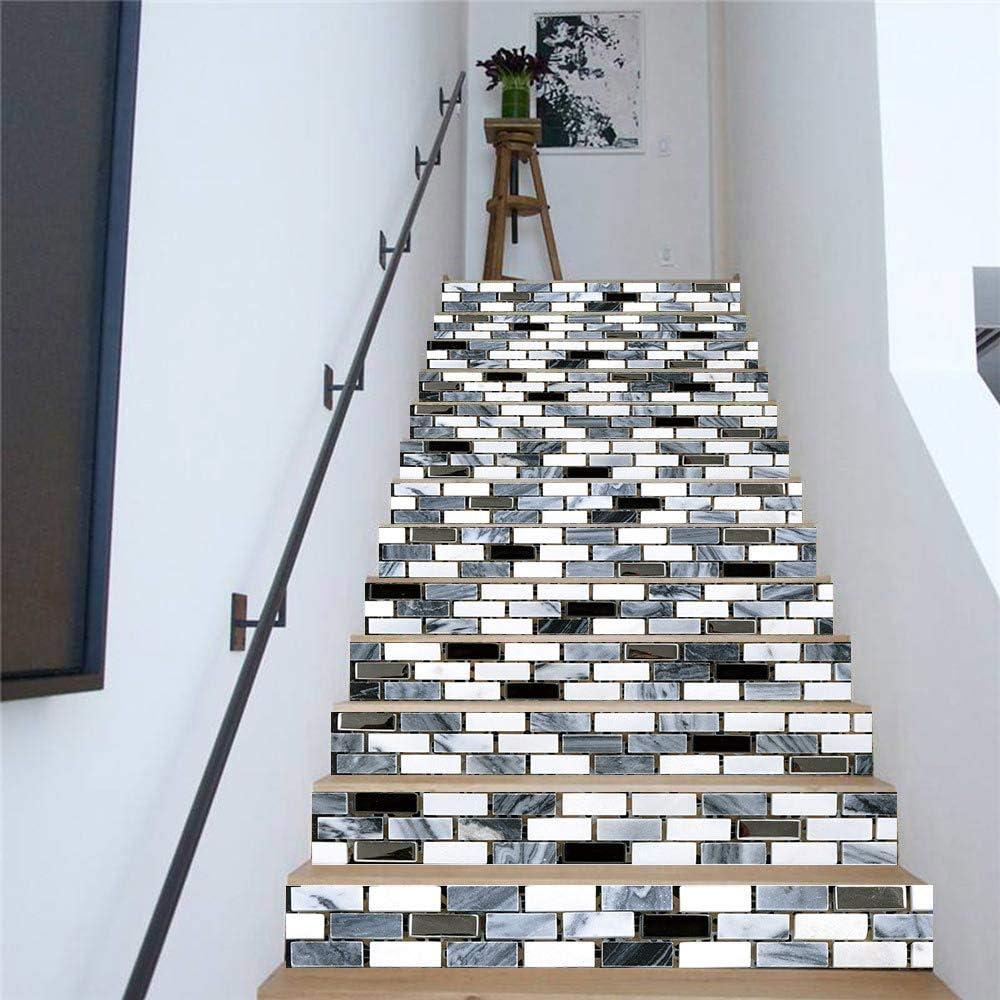 Pegatinas De Escaleras Color Ladrillo Mosaico Azulejo Etiqueta Engomada Etiquetas Engomadas Caseras Panel De Pared Pvc Pared Pegatinas Escaleras Obras De Arte A Prueba De Agua (100cm*18cm)6pcs: Amazon.es: Bricolaje y herramientas